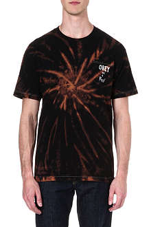 OBEY Posse tie-dye pocket t-shirt