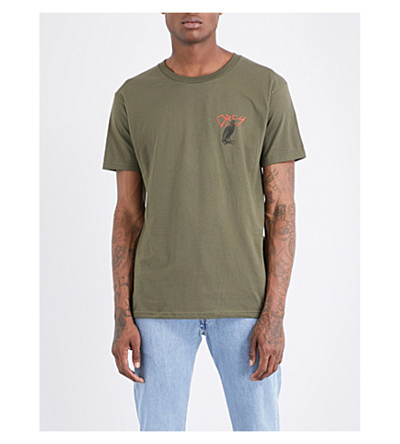 OBEY Obey tee living in darkness (Military+olive