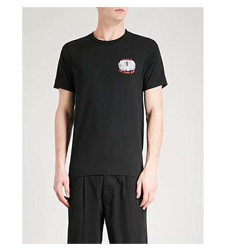 OBEY 欢迎来到另一边棉泽衫 t恤衫 (黑色