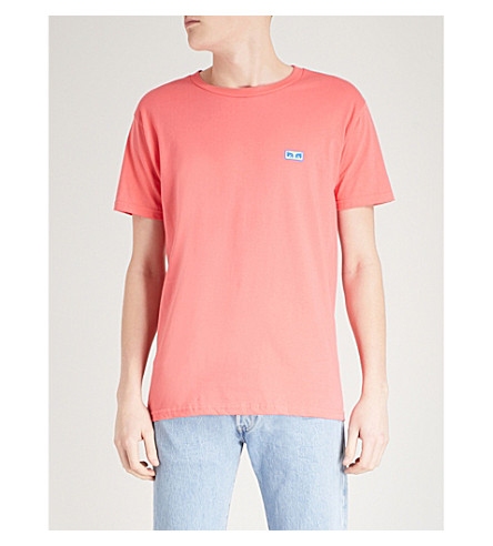 OBEY Flashback cotton-jersey T-shirt (Coral