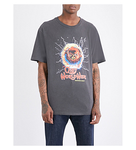OBEY End of the world cotton-jersey T-shirt (Dusty+black