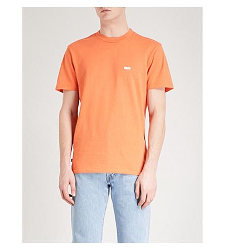 OBEY 混杂的棉泽衫 t恤衫 (尘土飞扬的 + 桔子