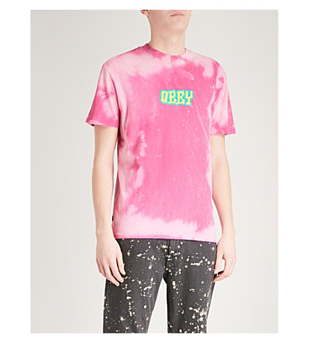 OBEY Better Days cotton-jersey T-shirt (Magenta