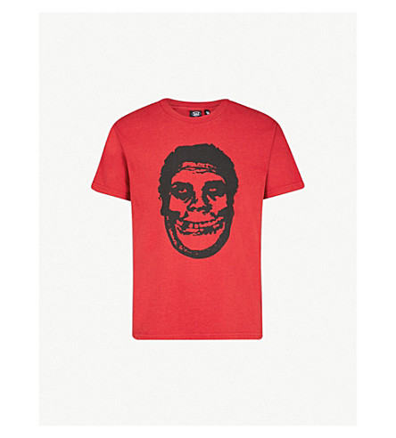 OBEY OBEY x Misfits Teenagers From Mars cotton-jersey T-shirt (Fire red