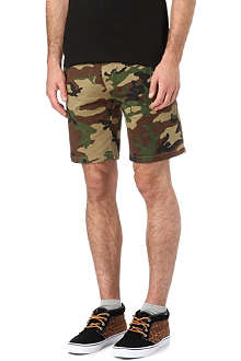 OBEY Tracks camouflage-print chino shorts