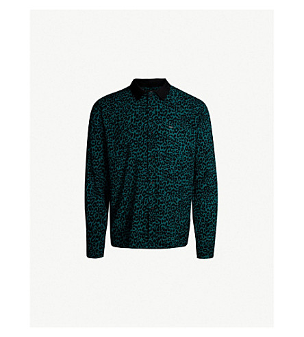 OBEY Leo woven shirt (Teal multi
