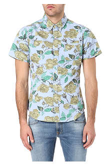 OBEY Wasted floral-print shirt