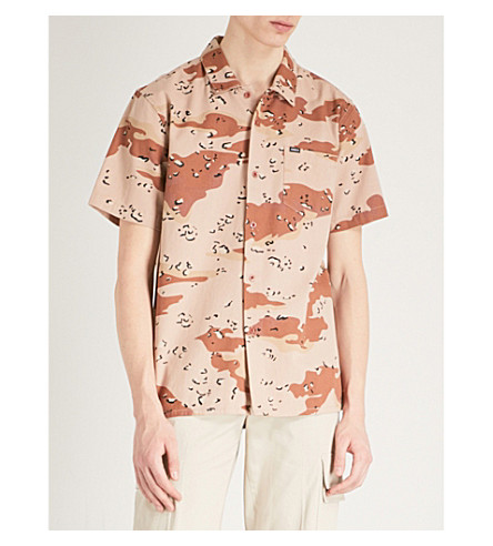 OBEY Division camo-print regular-fit cotton-twill shirt (Choco+chip+camo