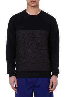 SNCL Black quilted sweatshirt