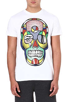 SNCL Crying skull cotton t-shirt