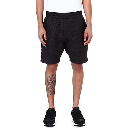 SNCL Quilted false start shorts (Black