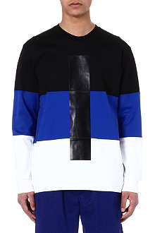 SNCL Colour-block cotton sweatshirt