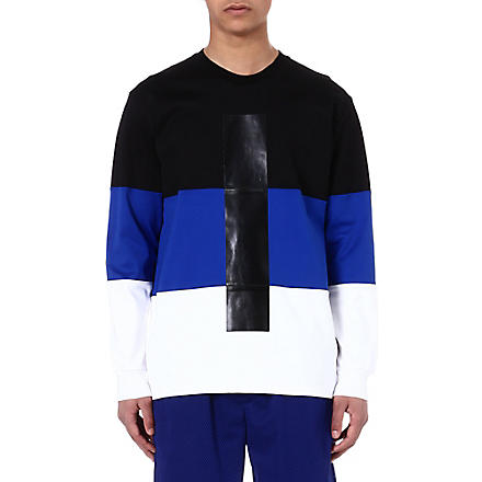 SNCL Colour-block cotton sweatshirt (Blk/wht/blu
