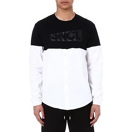 SNCL Periscope cotton shirt top (Black/white