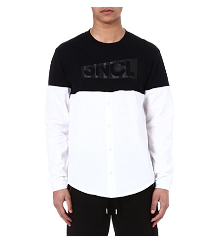 SNCL Periscope cotton shirt top (Black/white