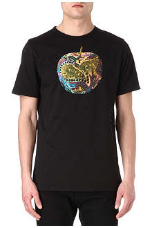PRETTY GREEN Camo apple t-shirt