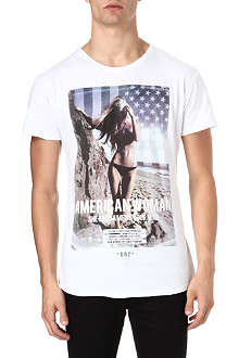DEATH BY ZERO American Woman cotton t-shirt