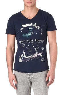 DEATH BY ZERO Dirty Vinyl Pusher t-shirt