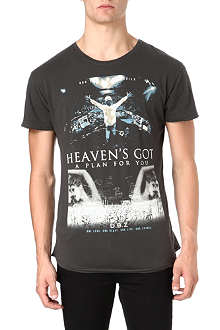 DEATH BY ZERO DJ heaven v-neck t-shirt