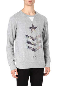 DEATH BY ZERO Military star sweater