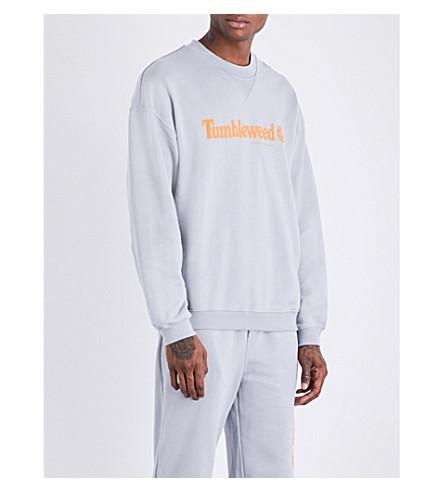 CHRISTOPHER SHANNON Tumbleweed cotton-jersey sweatshirt (Grey