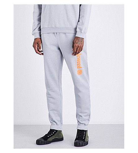 CHRISTOPHER SHANNON Tumbleweed cotton-jersey jogging bottoms (Grey