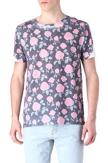 NEW LOVE CLUB Rose print t-shirt