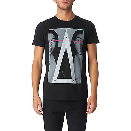 NEW LOVE CLUB Vice girl t–shirt (Black