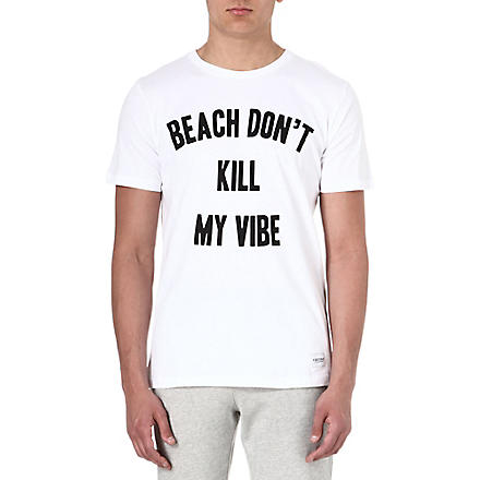 A QUESTION OF Beach don't kill my vibe t-shirt (White