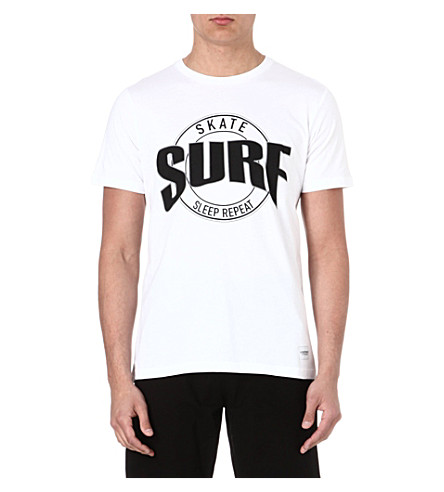 A QUESTION OF Surf Skate Sleep Repeat t-shirt (White