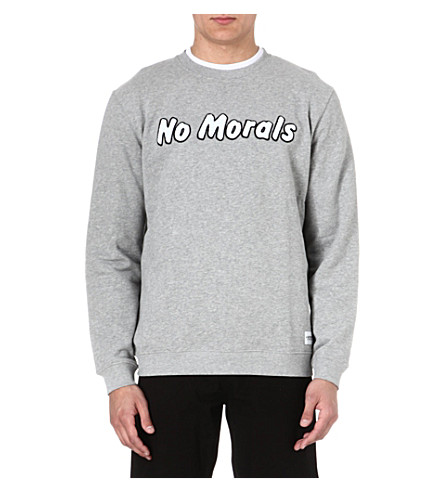 A QUESTION OF No morals sweatshirt (Grey