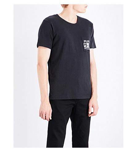 LOCAL AUTHORITY Slogan-print cotton-jersey T-shirt (Black