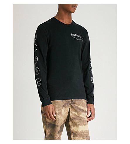 LOCAL AUTHORITY LA Crest cotton-jersey top (Black