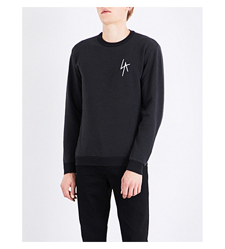 LOCAL AUTHORITY LA Slash cotton-fleece sweatshirt (Black
