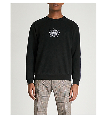 LOCAL AUTHORITY Hollyweird cotton-blend sweatshirt (Black