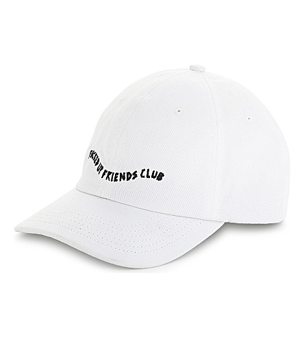 LOCAL AUTHORITY 'FUFC' scripted snapback cap (White