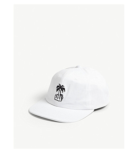 LOCAL AUTHORITY Palm tree cotton snapback cap (White