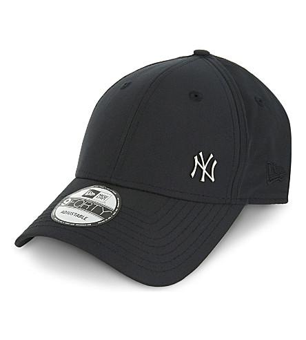 NEW ERA 完美无瑕的纽约洋基棉混纺帽 (黑色