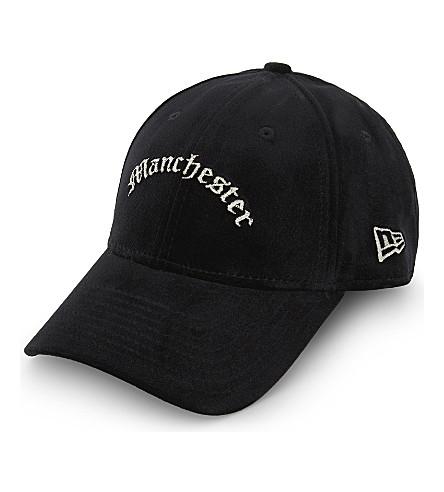 NEW ERA 9FORTY Manchester velvet strapback cap (Black+silver