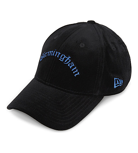 NEW ERA 9FORTY Birmingham velvet strapback cap (Black+blue