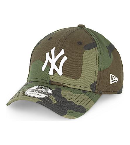 NEW ERA Yankees camo cotton cap (Green