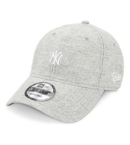 NEW ERA 9FORTY New York Yankees herringbone strapback cap (Grey+melange