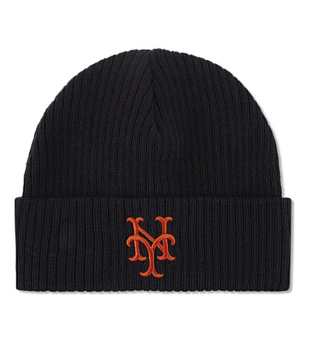 NEW ERA Cooperstown Collection New York Mets beanie (Navy+orange