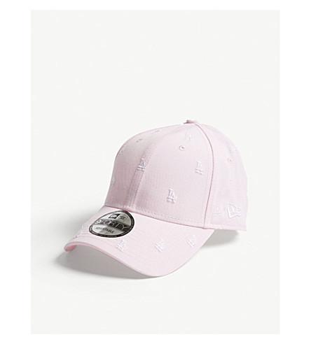 NEW ERA 9FORTY LA Dodgers cotton strapback cap (Pink+optic+white