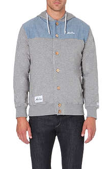 NEW ERA Chambray-panel hoody