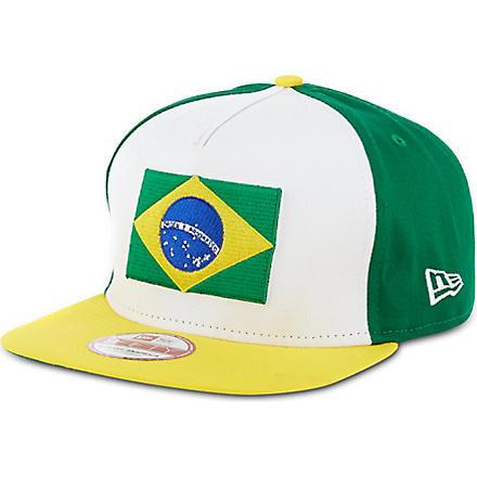 NEW ERA Brazil 9fifty A-Frame snapback (Green/yellow