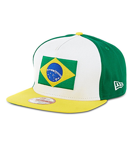NEW ERA Brazil 9fifty A-Frame snapback (Green/yellow