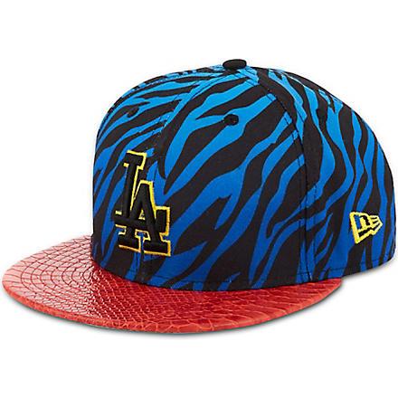 NEW ERA Jungle mashup zebra print 9fifty baseball cap (Blue/red