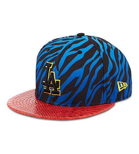 NEW ERA Jungle mashup zebra print 9fifty baseball cap (Blue/red