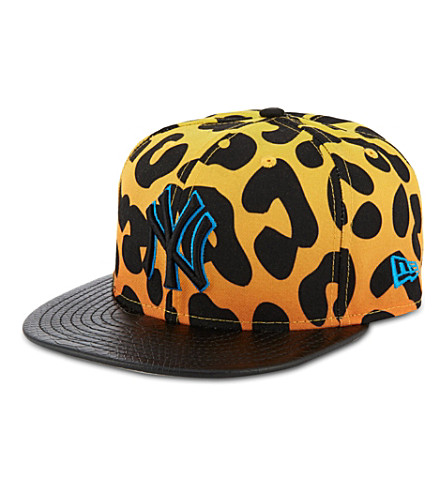 NEW ERA Leopard print 9fifty baseball cap (Yellow/black